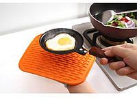 Силиконовый коврик для сушки посуды 21Х15 см (оранжевый), фото 1