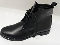 Ботинки женские из  натуральной кожи. цвет черный. Демисезон. р 39