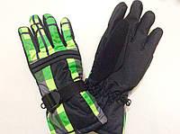 Перчатки горнолыжные р.L (8) (черные/зеленые), фото 1