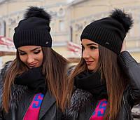 Шапка женская в наборе с шарфом, фото 1