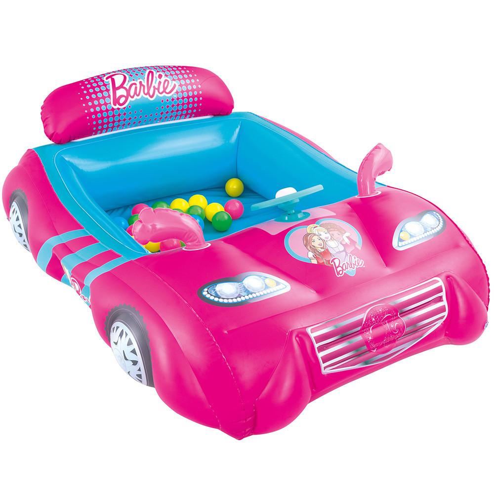 """Детский игровой надувной центр BestWay """"Barbie"""" с шариками"""