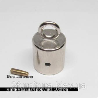 Наконечник для шнура (12мм) никель, 8шт 4412