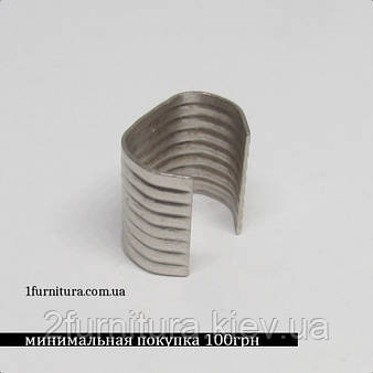 Зажимы для сумок (12мм) никель, 50шт 5081