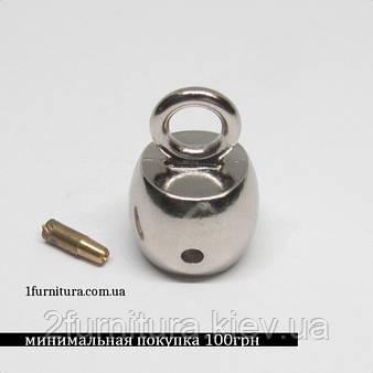 Наконечник для шнура (8мм) никель, 4шт 4413