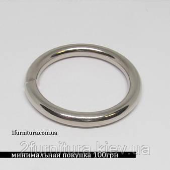Кольца для сумок (30мм) никель, 10шт 4332