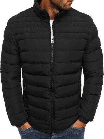 2d68ef7e21b Мужская зимняя синтепоновая куртка бомбер Черная Black  продажа ...