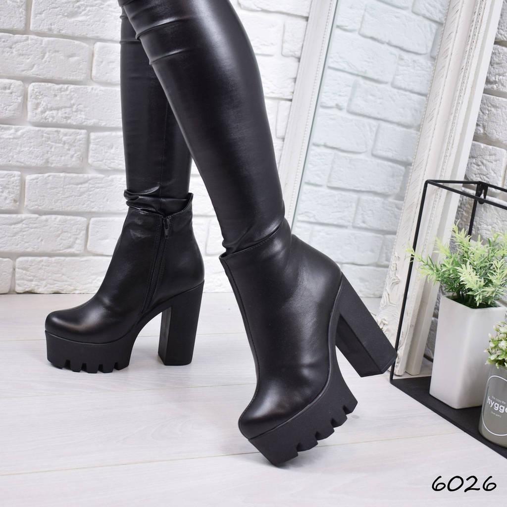 Ботильоны женские Nonna зимние черные натуральная кожа ))  продажа ... d355f058fc7