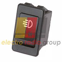 Переключатель с подсветкой ASW-17D ON-OFF, 4pin, 12V, 35А, желтый