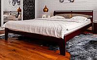 Деревянная кровать Венеция с ковкой 140х190 см. ЧДК