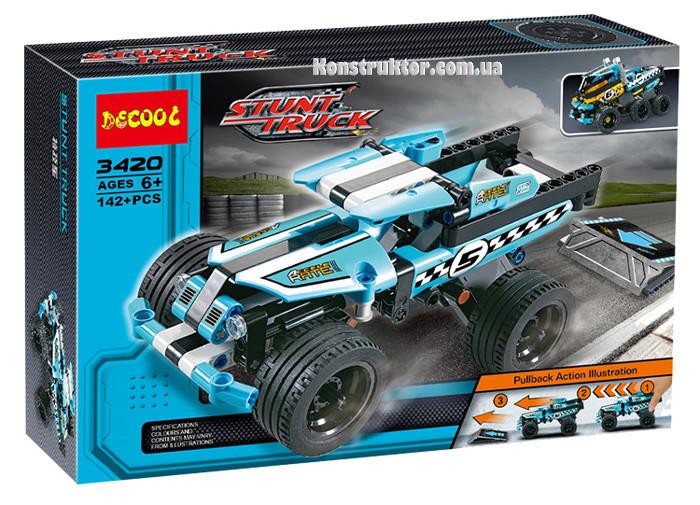"""Конструктор Decool 3420 """"Трюковой грузовик"""" 142 деталей. Аналог Lego Technic 42059"""