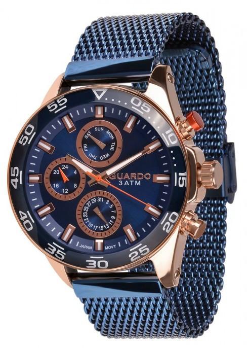 Мужские наручные часы Guardo P11458(m) RgBl