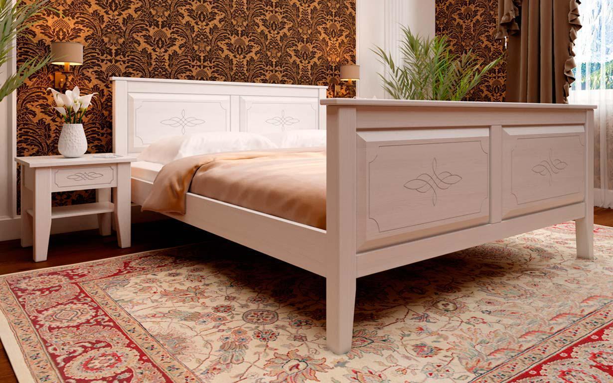 Деревянная кровать Майя (высокое изножье) 90х190 см. ЧДК