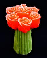 """9060101 Свеча """"Букет Роз"""" красный"""