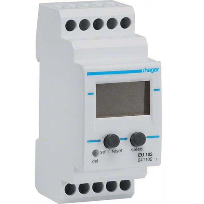 Реле контроля напряжения однофазное 2 модуля Hager EU102