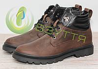 Кожаные  ботинки арт 14097 олива размеры 40,43, фото 1