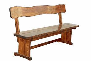 Лавка деревянная для дачи, сада, кафе, ресторана 1250*370