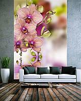 """3D фотообои """"Орхидея"""" (флизелиновые)"""