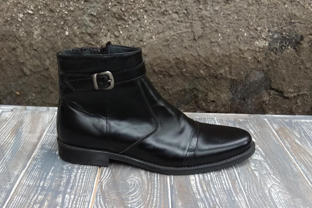 Остання пара - 41 розмір! Зимові черевики з натуральної шкіри і набивної шерсті - тепле і якісне взуття!