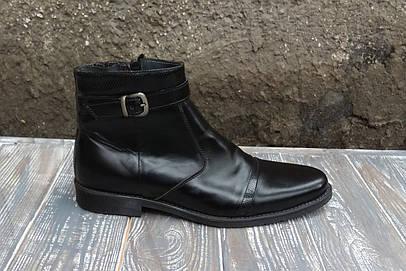 Остання пара - 41 розмір! Зимові черевики з натуральної шкіри і набивної  шерсті - тепле fad046fe97049