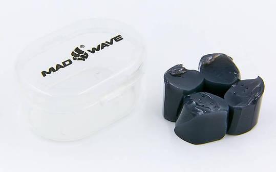 Беруши для плавания в пластиковом футляре MadWave черный M071401, фото 2