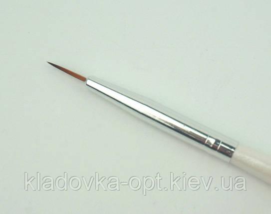 Кисть для дизайна ногтей Gloris  0000 искусственный ворс, фото 2
