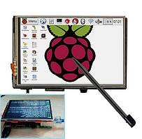 """Дисплей TFT 3.5"""" 320x480 для Raspberry Pi сенсорный + стилус"""