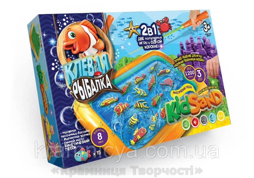 Игра большая 2-в-1 'Клевая рыбалка + Кинетический песок' (KRKS-01-01)