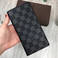 Стильный кошелек Louis Vuitton LV серый клатч мужской женский бумажник кожа  PU портмоне Луи Виттон реплика 4727ab03ed8c5