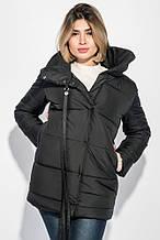 Женская куртка, плащёвка + синтепон 200, р-р С; М; Л (чёрный)