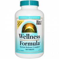 Wellness Formula (Иммунная формула №1)180 таб для иммунитета, лечение гриппа ОРВИ простуды Source Naturals