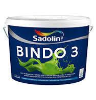 Краска для стен и потолков Sadolin Bindo 3 2,5л (Садолин Биндо 3)
