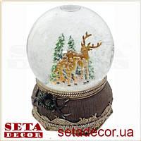 Большой шар со снегом новогодний