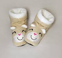 Детские домашние тапочки-сапожки с вышивкой Slivki Хомячки 24-25