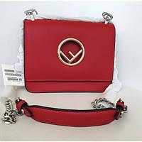 Женская сумочка Fendi (Фенди), красный цвет, фото 1