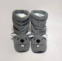 Домашние детские тапочки-сапожки с вышивкой Slivki Мышки 24-25