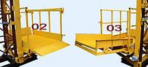 Строительный подъемник-подъёмники мачтовый секционный  г/п-1000 кг. с выкатным лотком. Высота подъёма, м 87, фото 2