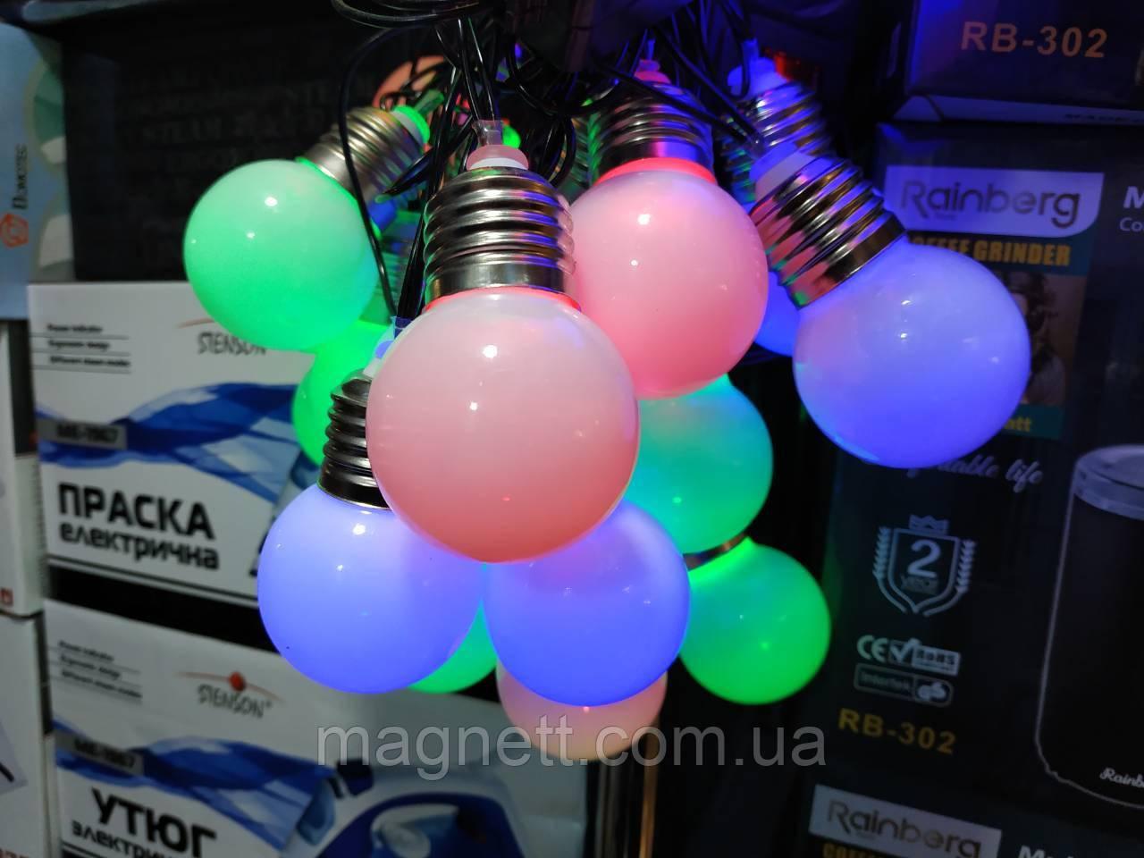 Светодиодные гирлянды шарики 20 Led лампочек больших (Ретро)