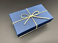 Коробка подарочная, прямоугольная. Цвет синий. 9х15х6см.