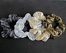 Резинки для волос текстиль с напылением d 8 см 12 шт/уп, фото 2