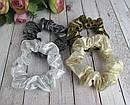 Резинки для волос текстиль с напылением d 8 см 12 шт/уп, фото 3