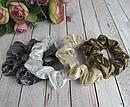 Резинки для волос текстиль с напылением d 8 см 12 шт/уп, фото 4