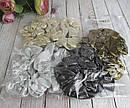 Резинки для волос текстиль с напылением d 8 см 12 шт/уп, фото 5