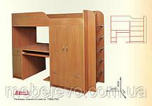 Кровать двухъярусная Дуэт 1  1600х730х2080мм  70х190 Пехотин, фото 2