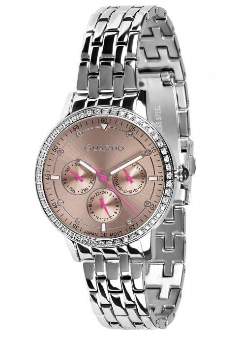 Жіночі наручні годинники Guardo P11461(m) SGr