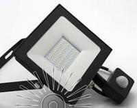 Прожектор светодиодный LED 50w 6500K IP65 4000LM 175-265V с датчиком чёрный