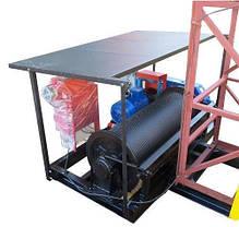 Строительный подъемник-подъёмники мачтовый секционный  г/п-1000 кг. с выкатным лотком. Высота подъёма, м 75, фото 2