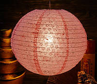 "9050004 Фонарь бумажный ""ШАР с дырками Мэй Хуа"" Светло розовый"