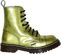Средние ботинки Steel Limited Edition золотисто-зеленые на 8 дырок, Размер 41