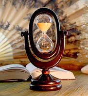 """9290102 Песочные часы """"Овал"""" 10 минут Персиковый песок"""