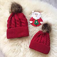 Комплект из 2х шапок. Мама/малыш